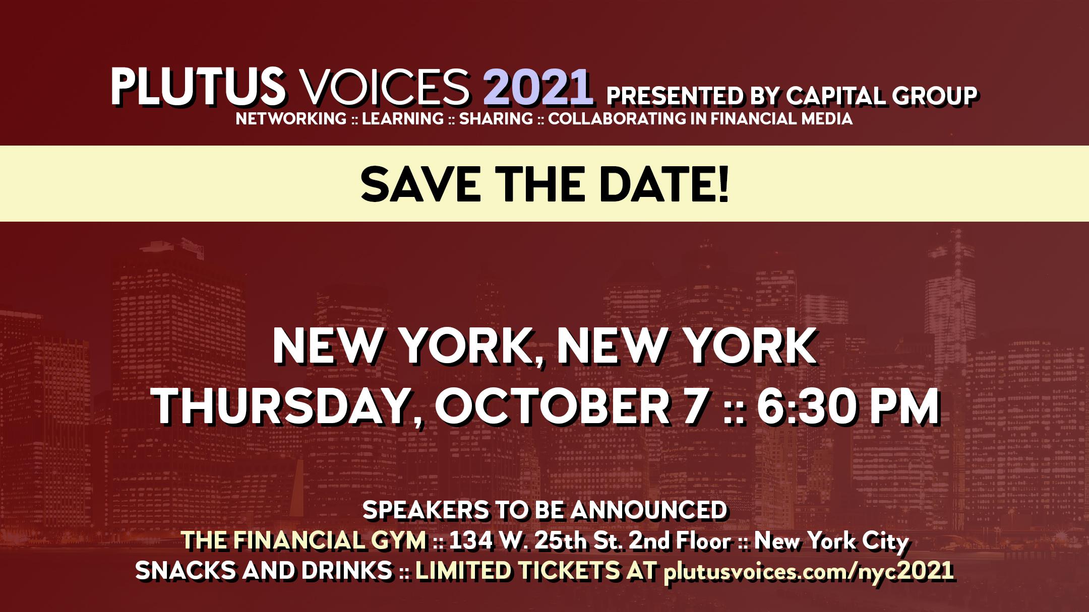 Plutus Voices New York City 2021