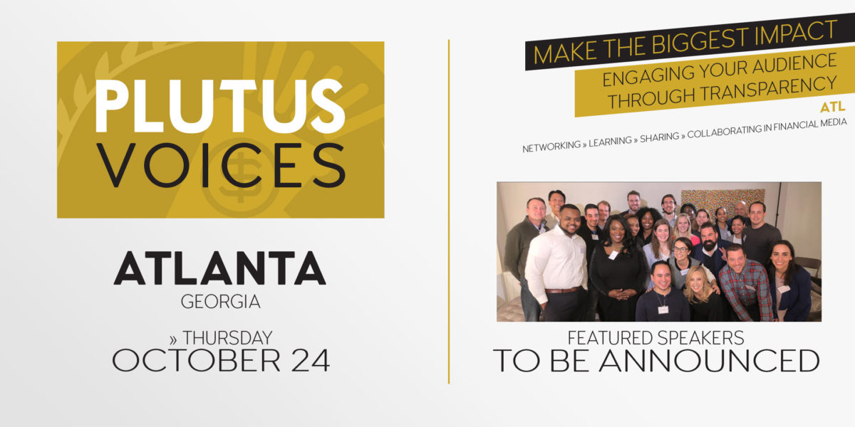 Save the date for Plutus Voices Atlanta