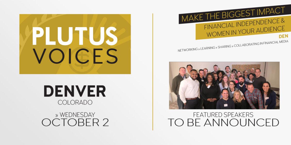 Plutus Voices Denver save the date